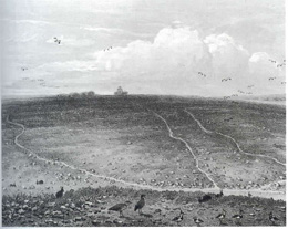 A late nineteenth-century view of Thetford Warren with the warren lodge on the horizon