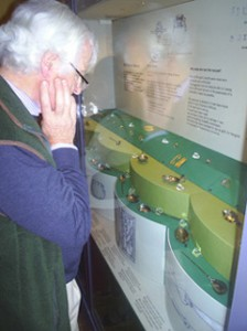 Society members viewing the Thetford Treasure at the 12 June private view