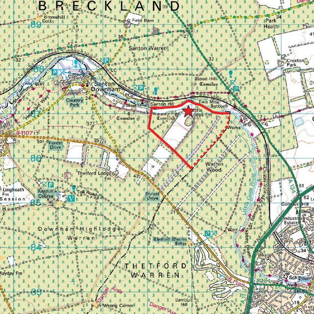 Where Is Breckland: The Breckland Society > Santon Downham
