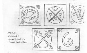 St PetersThetford Norfolk  Carvings